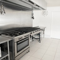A large commercial kitchen
